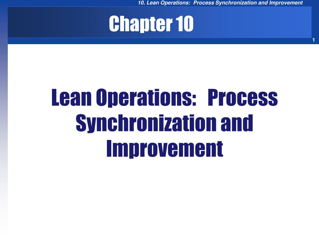 lean operations process synchronization and improvement l.