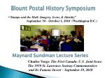 blount postal history symposium