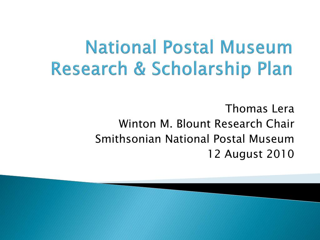 national postal museum research scholarship plan l.