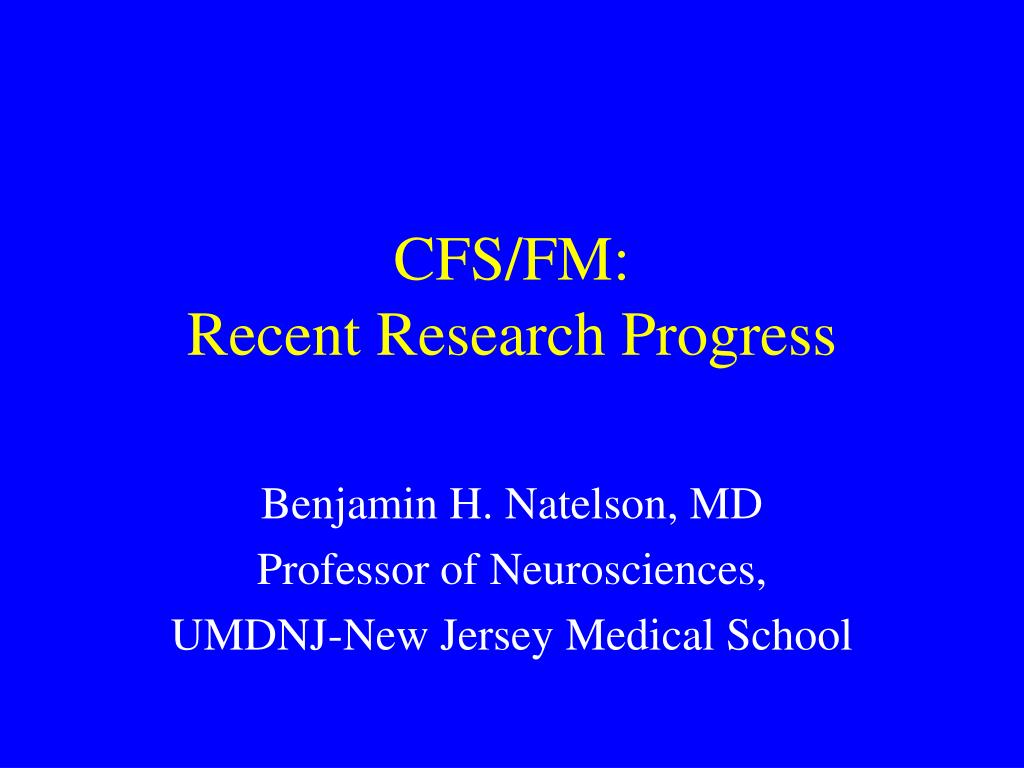 cfs fm recent research progress l.