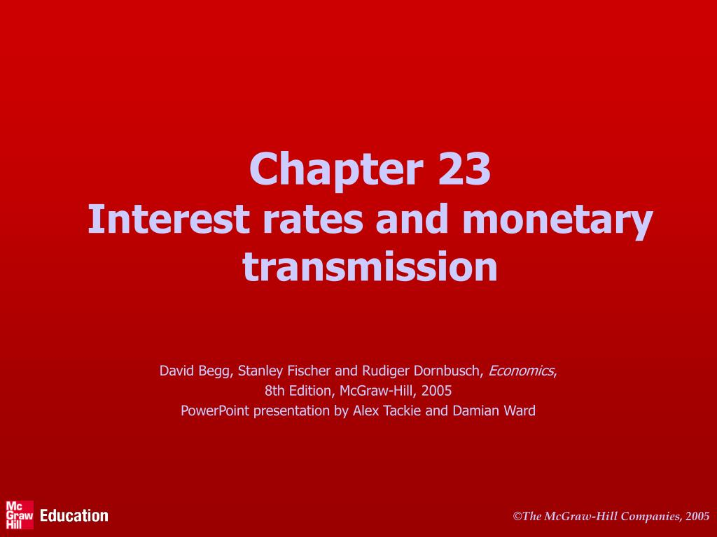 chapter 23 interest rates and monetary transmission l.