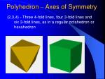polyhedron axes of symmetry40