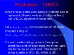 polyhedron check