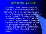 polyhedron order