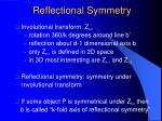 reflectional symmetry