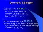 symmetry detection12
