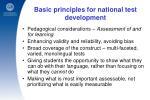 basic principles for national test development