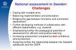 national assessment in sweden challenges