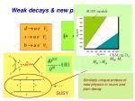weak decays new physics