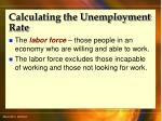 calculating the unemployment rate42