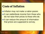 costs of inflation