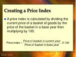 creating a price index