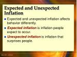 expected and unexpected inflation