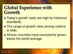 global experience with growth