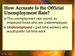 how accurate is the official unemployment rate45