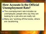 how accurate is the official unemployment rate46