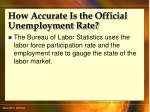 how accurate is the official unemployment rate47