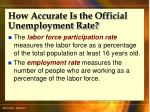 how accurate is the official unemployment rate48