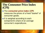 the consumer price index cpi