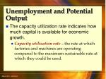 unemployment and potential output