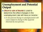 unemployment and potential output51