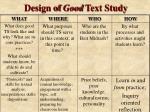 design of good text study