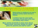 physical activity education staff children and parents