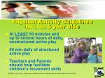 physical activity guidelines for 3 to 5 year olds