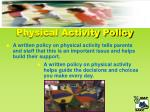 physical activity policy