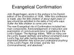 evangelical confirmation