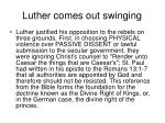 luther comes out swinging