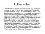 luther writes
