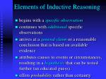 elements of inductive reasoning