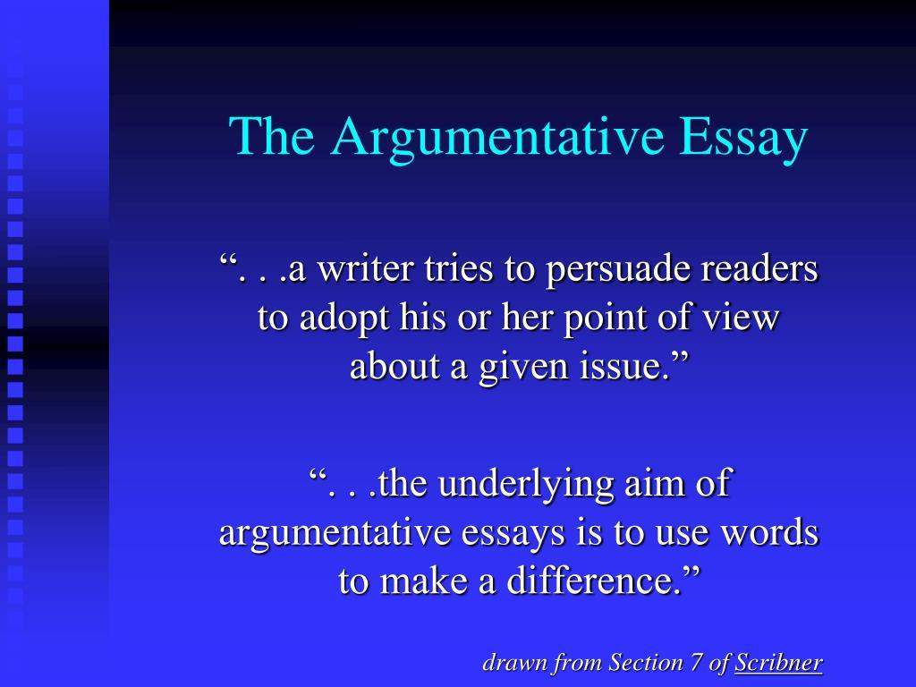 the argumentative essay l.