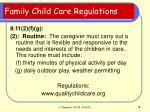 family child care regulations