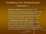 evidence for institutional racism 1