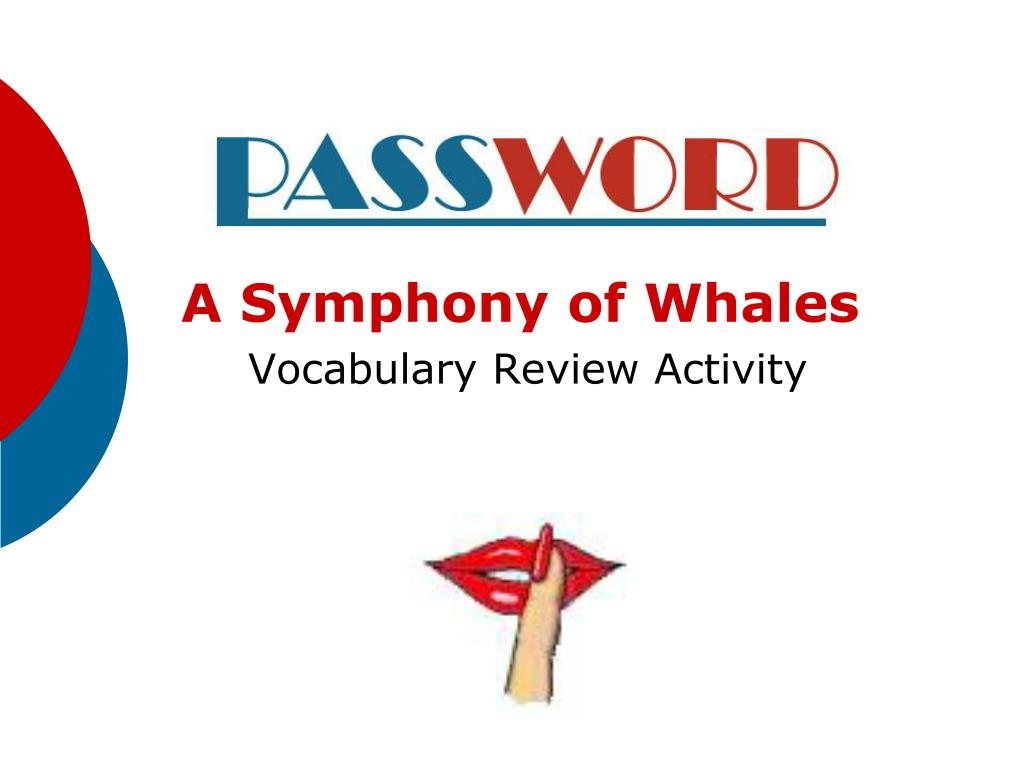 a symphony of whales vocabulary review activity l.