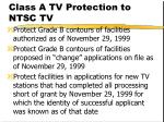 class a tv protection to ntsc tv