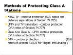 methods of protecting class a stations