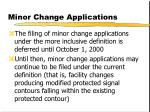 minor change applications42