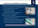 synchronous modeling summary