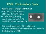 esbl confirmatory tests