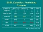 esbl detection automated systems