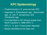kpc epidemiology