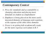 contemporary context19