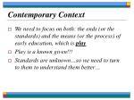 contemporary context22