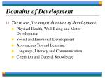 domains of development8