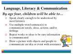 language literacy communication