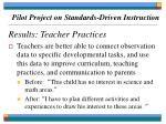 pilot project on standards driven instruction67