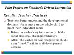 pilot project on standards driven instruction68